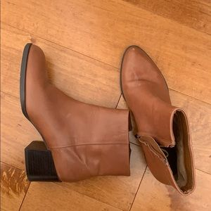 Sam Edelman Tan Leather Ankle Boots